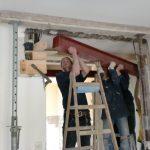Harte Arbeit: Stahlträger