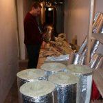 Isolierung der Kellerrohre